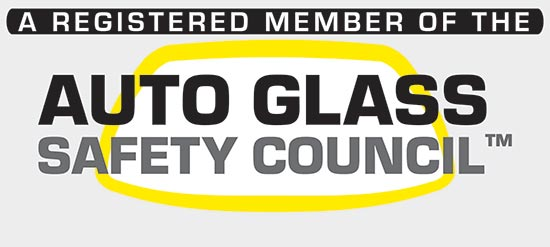 A registered member of the Auto Glass Safety Council